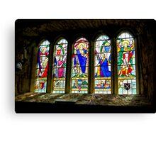 Hubberholme Church Window #3 Canvas Print