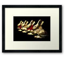 Lindt Bunnies Framed Print