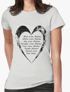 All Lives Matter Womens Fitted T-Shirt