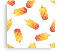 watercolor icecream popsicle seamless pattern Canvas Print