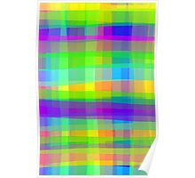 Psychedelic Fabric Texture Pattern Poster