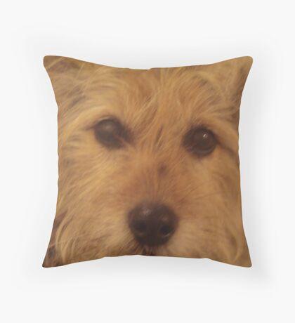 Tina The Terror Terrier! Throw Pillow