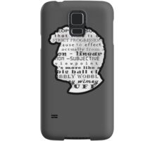 Doctor Who Quote -Timey Wimey  Samsung Galaxy Case/Skin