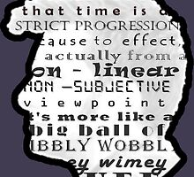 Doctor Who Quote -Timey Wimey  by BagChemistry