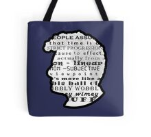 Doctor Who Quote -Timey Wimey  Tote Bag