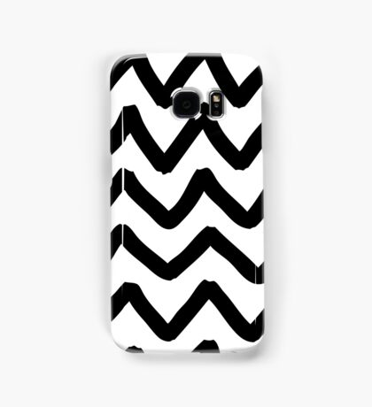 Abstract background with zigzag brush strokes Samsung Galaxy Case/Skin