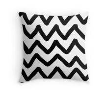 Abstract background with zigzag brush strokes Throw Pillow