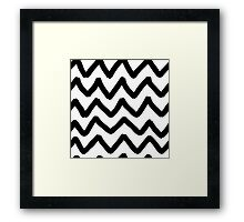 Abstract background with zigzag brush strokes Framed Print