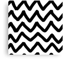 Abstract background with zigzag brush strokes Canvas Print