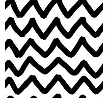 Abstract background with zigzag brush strokes Photographic Print