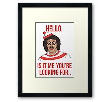 Lionel Richie - Where's Wally ?  Framed Print