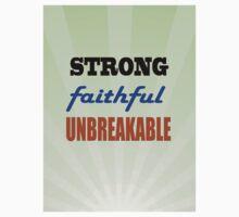 Strong Faithful Unbreakable One Piece - Short Sleeve