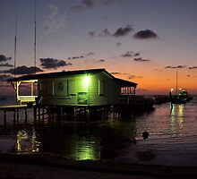 Dawn on Caye Caulker by Valerie Rosen