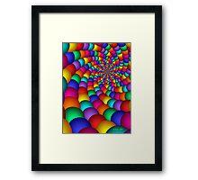 Bubblegum Fractal Framed Print