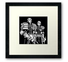 Judge Dredd & Judge Anderson  Framed Print