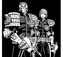 Judge Dredd & Judge Anderson  Photographic Print