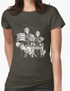 Judge Dredd & Judge Anderson  Womens Fitted T-Shirt