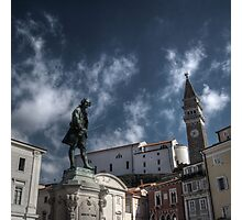 Local Hero - Piran, Slovenia Photographic Print