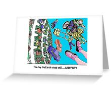 GRAVITY of the moment Greeting Card
