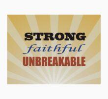 Strong Faithful Unbreakable Baby Tee