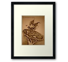 Double Hawkshead Butterfly Sepia Photo Framed Print