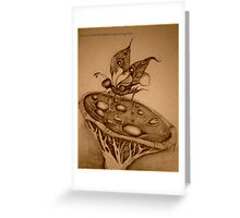Double Hawkshead Butterfly Sepia Photo Greeting Card