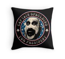 Captain Spaulding for President Throw Pillow