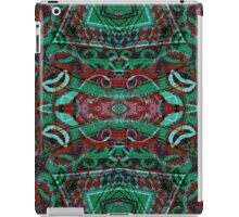 Tribal Ornament Pattern in Red and Green Colors iPad Case/Skin