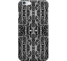 Black and White Tribal Geometric Pattern Print iPhone Case/Skin