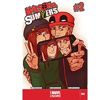 Wilson&Summers fake comic book cover (lettered) Photographic Print