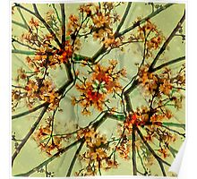 Floral Motif Print Pattern Collage Poster