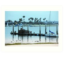 Dock at the Bay: Art Print
