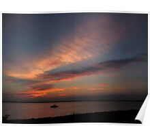 Watercolor Sunset Poster