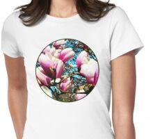 Magnolia Tree Closeup Womens Fitted T-Shirt