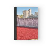 Poppies At The Tower Hardcover Journal