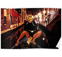 Fashion In Venice Fine Art Print Poster