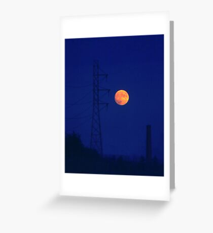 Moon and machines Greeting Card