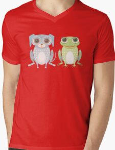 Lanky Dog & Frog Mens V-Neck T-Shirt