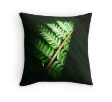 Light in the Forest - Fern Throw Pillow