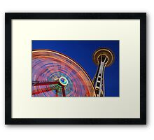 Space Wheel Framed Print