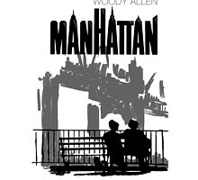 Woody Allen's Manhattan - illustration by burrotees