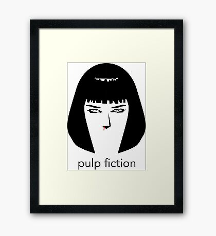 Pulp Fiction by burro Framed Print