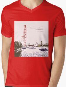 Tired of London Mens V-Neck T-Shirt