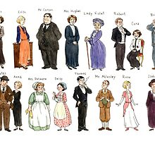 Downton Abbey portraits by Roby-boh