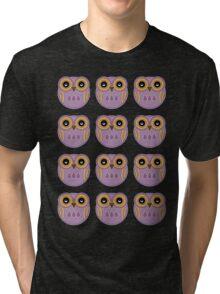 Purple Owls Tri-blend T-Shirt