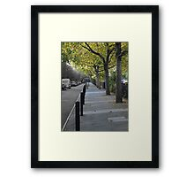 A Street Scene in London Framed Print
