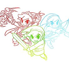 Zelda Triforce Heroes by dreymont