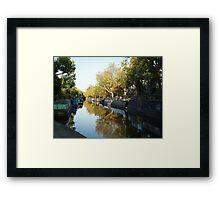 A Canal near Little Venice in London Framed Print