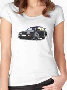 Ford Sierra Cosworth Black Women's Fitted Scoop T-Shirt