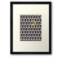 Sherlock Smile Face Framed Print